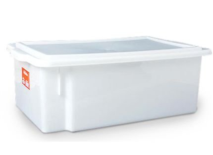 Caixa Organizadora Plástico com Tampa Branca Bioprátika 24,5 litros