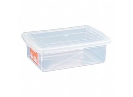 Caixa Organizadora Plástico com Tampa Transparente Biopratika 2,5 Litros
