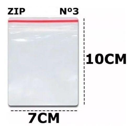 SACO ZIP N 3 7X10  C/100 UN