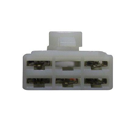 Conector Regulador Retificador de Voltagem YBR 125 Factor 16-17 Chiaratto
