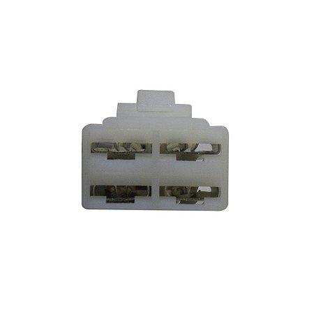 Conector Regulador Retificador de Voltagem CG 150 Titan 03-08 Chiaratto