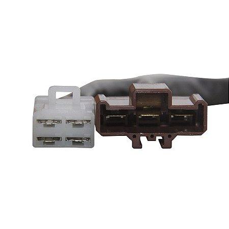 Conector Regulador Retificador de Voltagem Beverly 250 06-09 Chiaratto