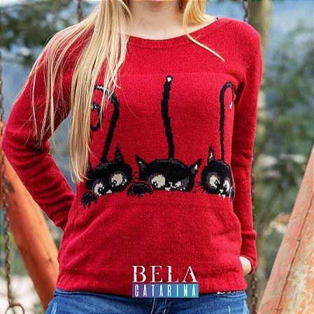 blusa vermelha com bordado - Tam M