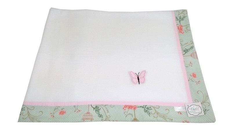Cobertor Soft com Barrado - Tema Gaiola com aplicação 3D