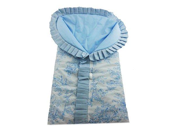 Porta Bebê  -  Tema Paraíso - Azul fundo branco