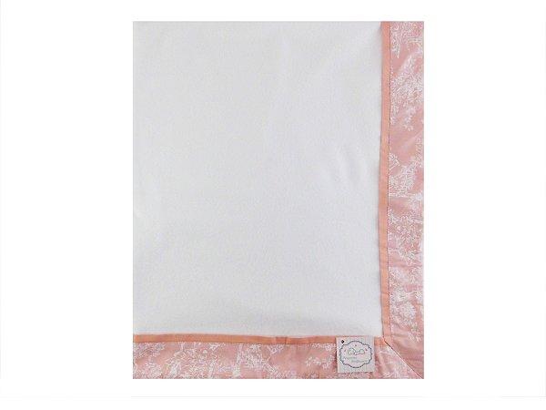 Cobertor Soft com Barrado - Tema Terra Magica Doce Rosa