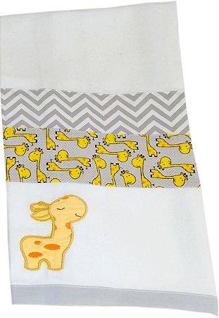Cueiro Flanelado - Tema Girafa