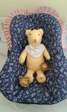 Capa para Bebê Conforto - Ancora Azul marinho