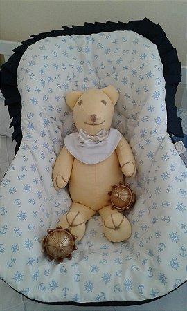 Capa para Bebê Conforto - Ancora Branco e Azul