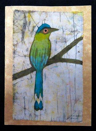 Cartão artesanal - Udu - Batik