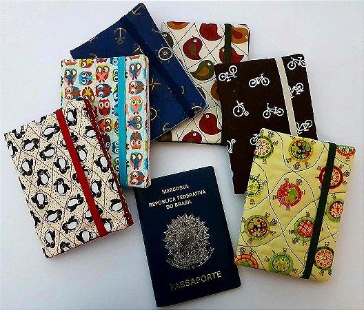 Capa para passaporte - Patchwork