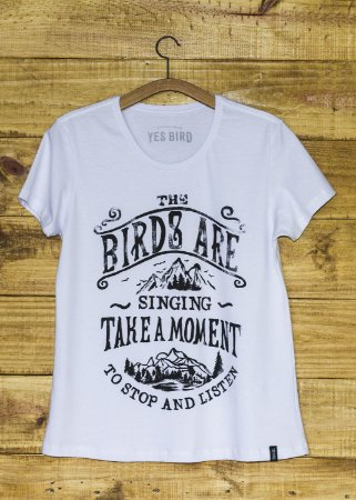 T-Shirt Feminina Take a Moment - Branco