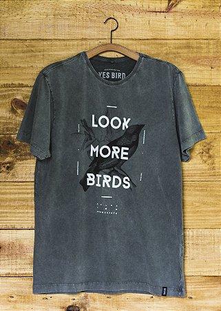 T-Shirt Masculina Look More Birds - Verde Estonado