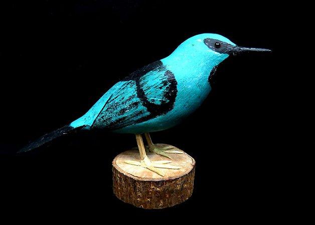 Miniatura madeira Saí-Azul