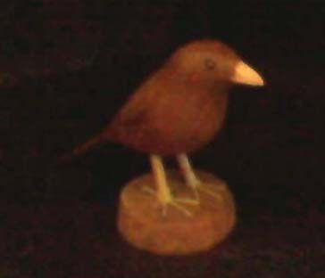 Miniatura madeira Pássaro marrom