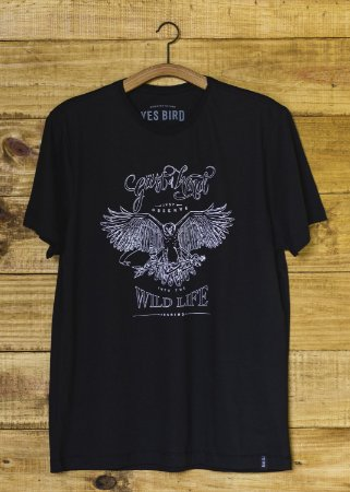 Camiseta Masculina Gust of Wind - Preto