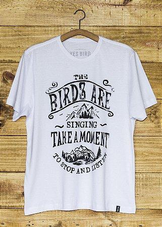 Camiseta Masculina Take a Moment - Branca