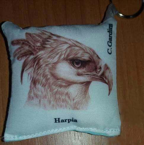 Chaveiro de tecido Harpia