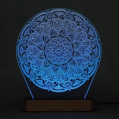 Luminária Acrílico e Led Mandala modelo D