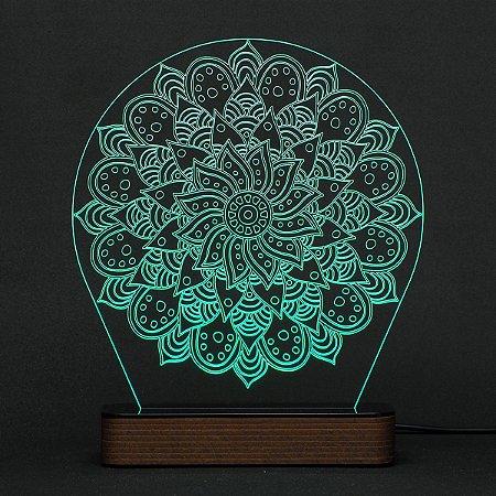 Luminária Acrílico e Led Mandala modelo E