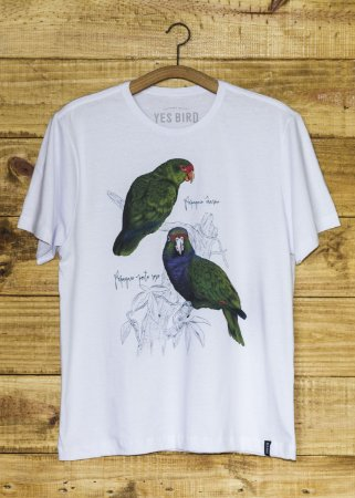Camiseta Feminina Papagaios - Branco