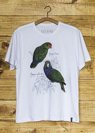 Camiseta Masculina Papagaios - Branco