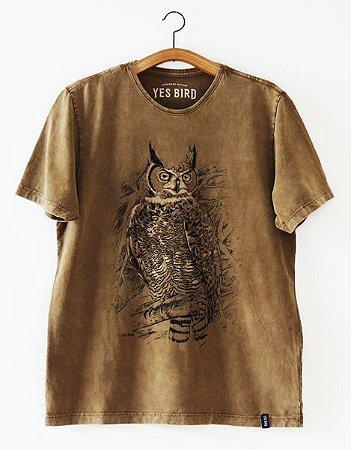 Camiseta Masculina Jacurutu - Marrom Estonado