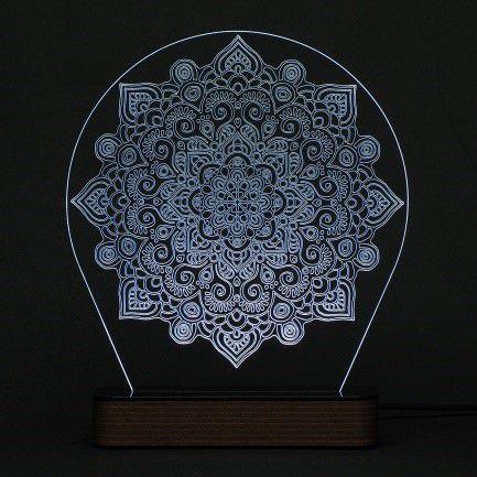 Luminária Acrílico e Led Mandala modelo C