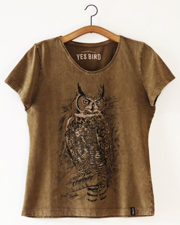 Camiseta Jacurutu - Marrom Estonado - Yes bird
