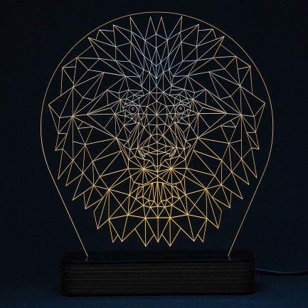 Luminária Acrílico e Led Leão