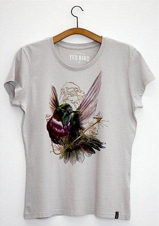 Camiseta Beija-flor-de-gravata-verde - Yes Bird