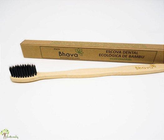 Escova de Dentes Natural e Vegana de Bambu Bhava