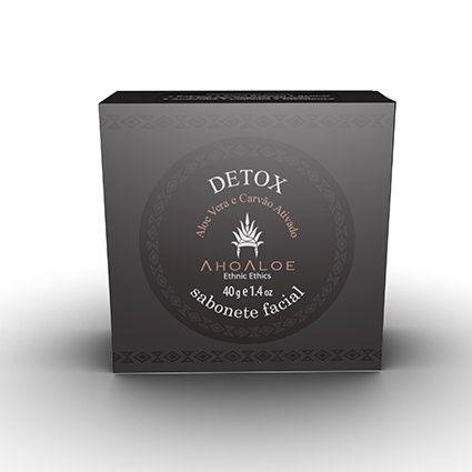 Sabonete Facial Detox com Carvão Ativo 40g AhoAloe