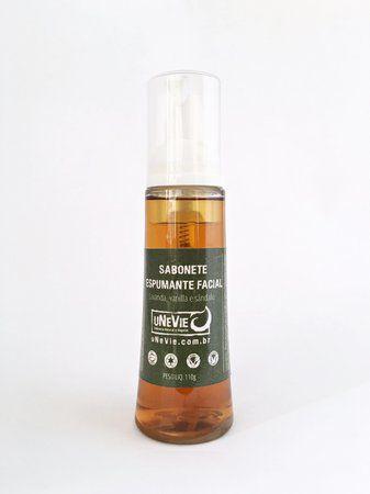 Sabonete Espumante Facial Natural e Vegano Lavanda, Vanila e Sândalo 100g Unevie