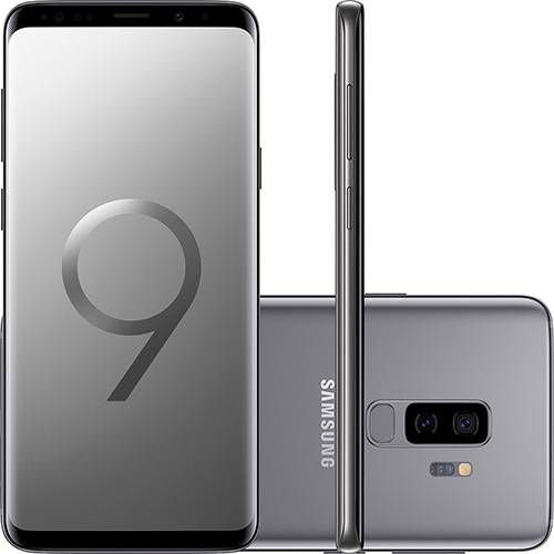"Smartphone Samsung Galaxy S9+ Dual Chip Android 8.0 Tela 6.2"" Octa-Core 2.8GHz 128GB 4G Câmera 12MP Dual Cam - Cinza"