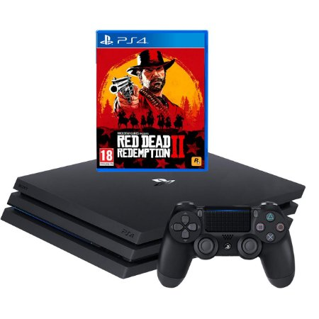 Playstation 4 Pro Ps4 1tb 4k + Red Dead Redemption 2