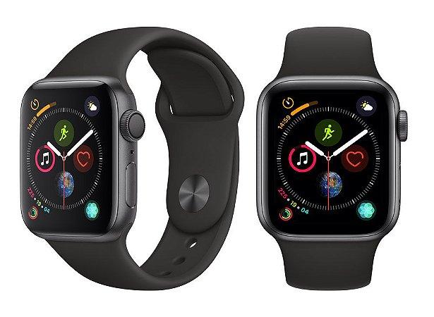 Apple Watch S4  Gps 40MM Black Sports Band - Preto