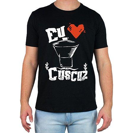 Camiseta Eu amo Cuscuz - Preta