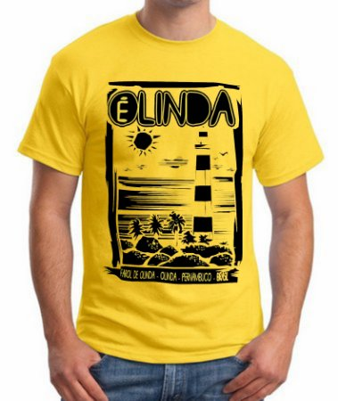 Camiseta OLINDA É LINDA - AMARELA