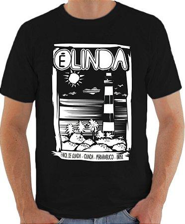 Camiseta OLINDA É LINDA - PRETA