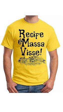 Camiseta Recife é massa visse - Amarela