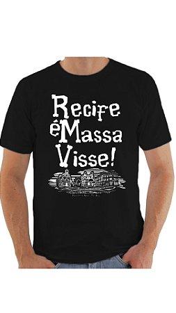 Camiseta Recife é massa visse - Preta