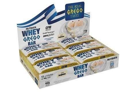 Whey Grego Bar - 40g (Caixa com 12 unidades) - Nutrata