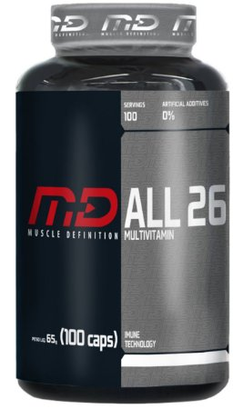 ALL 26 Multivitaminico 100 cápsulas - Muscle Definition