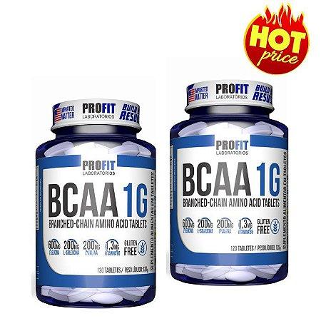 PROMO 02 BCAAs 1G 240 cápsulas Total Profit