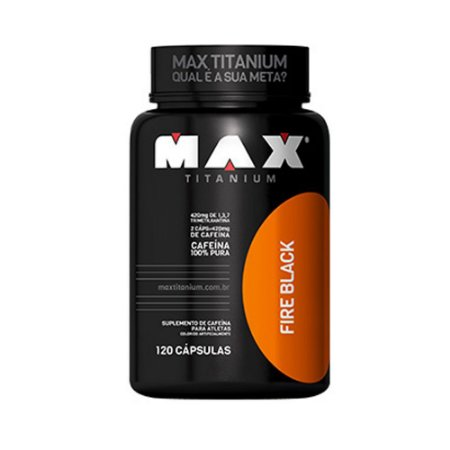 Fire Black 400mg 120 cápsulas - Max Titanium