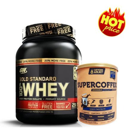 PROMO Whey Gold Standard ON 1,1kg Optimum Nutrition + Super Coffee Chocolate