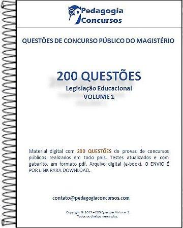 200 Questões - Coleção Legislação Educacional