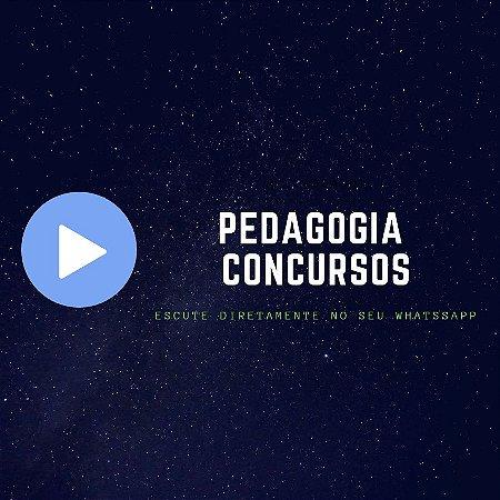 Áudio do Pedagogia Concursos no Whatsapp