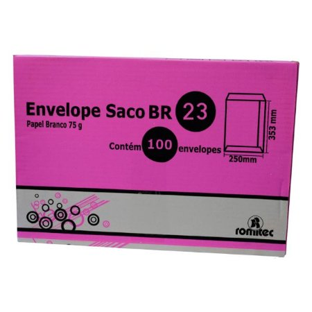 ENVELOPE SACO BR23 162X229MM C/100